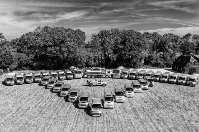 Full fleet of 35 vehicles at Aquaflow Services