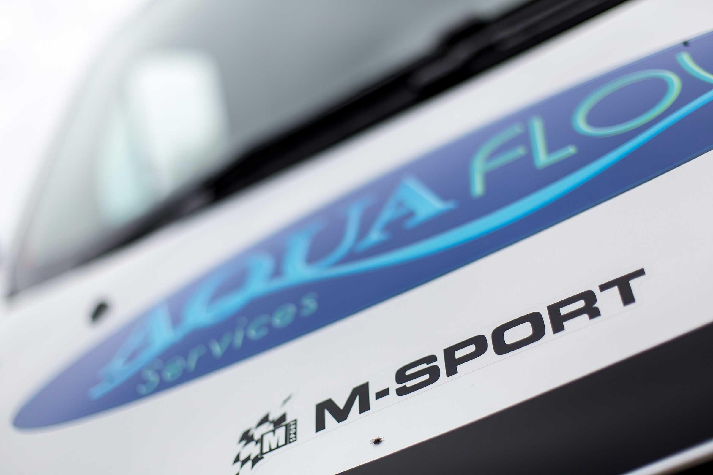 Aquaflow Services Transit M Sport abstract close up of bonnet
