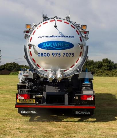 Aquaflow Services Vacuum Tanker rear view